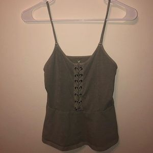 American Eagle olive green tank